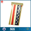 disposable American flag printed plastic tablecloths with papercard
