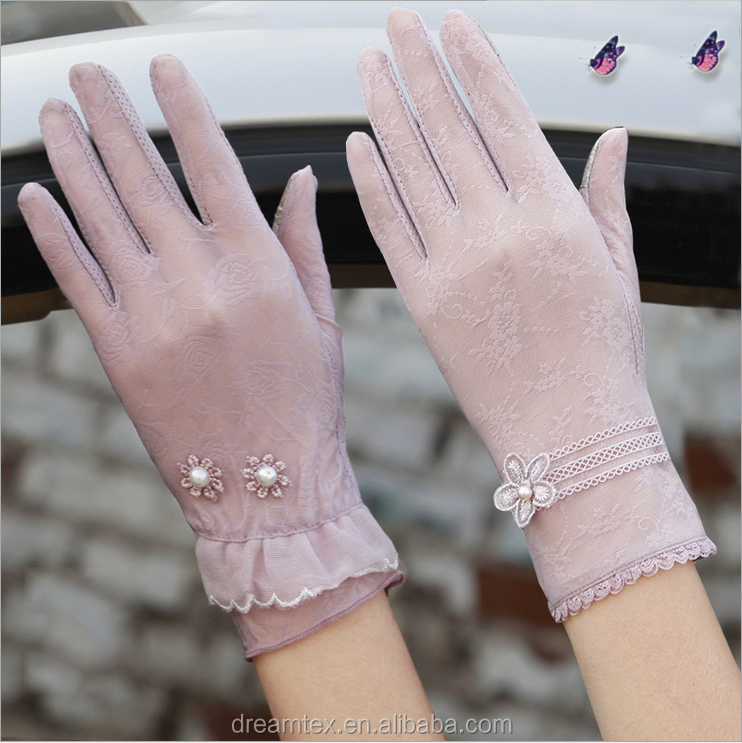 2017 summer sun-protection woman's <strong>gloves</strong> lace <strong>gloves</strong> outdoor <strong>glove</strong> wholesale