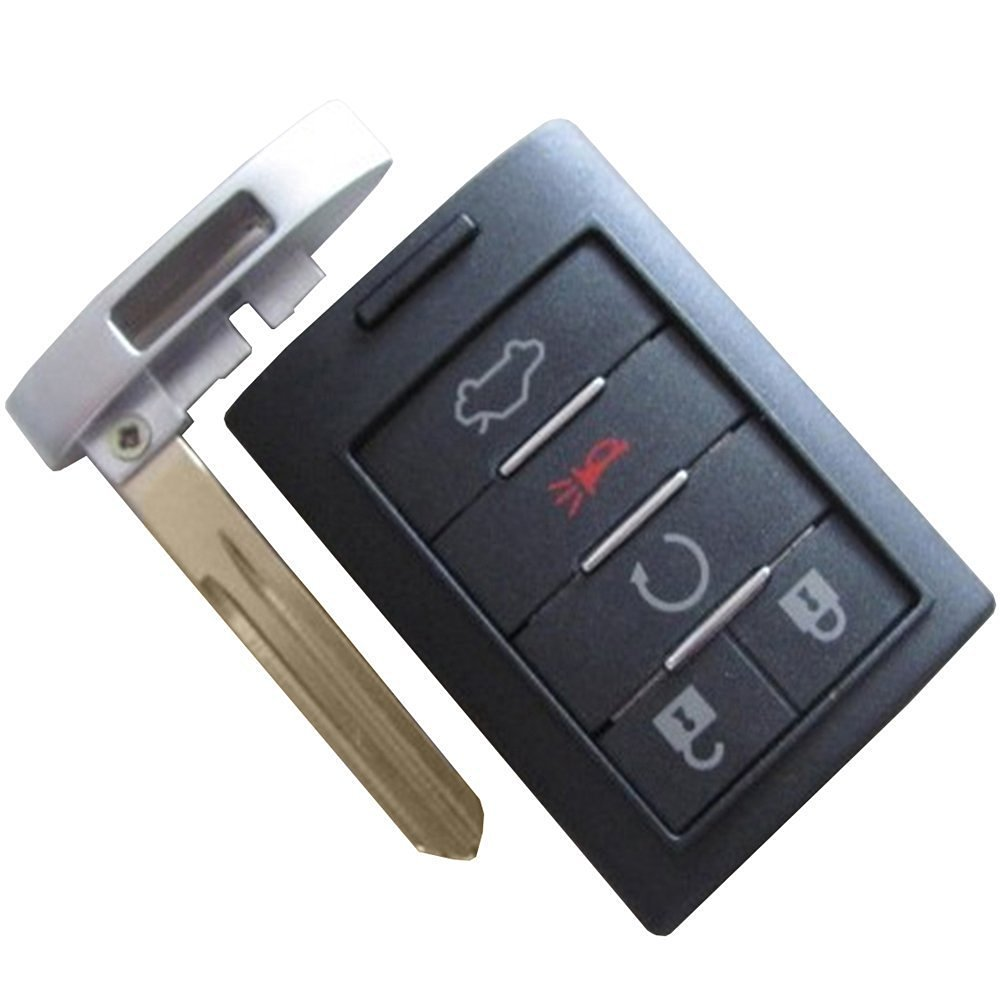 Repair Key Shell Smart Remote Key Case Entry Fob 5 Buttons replacement for 2006 2007 2008 2009 2010 2011 Cadillac DTS CTS STS XTS NO CHIPS