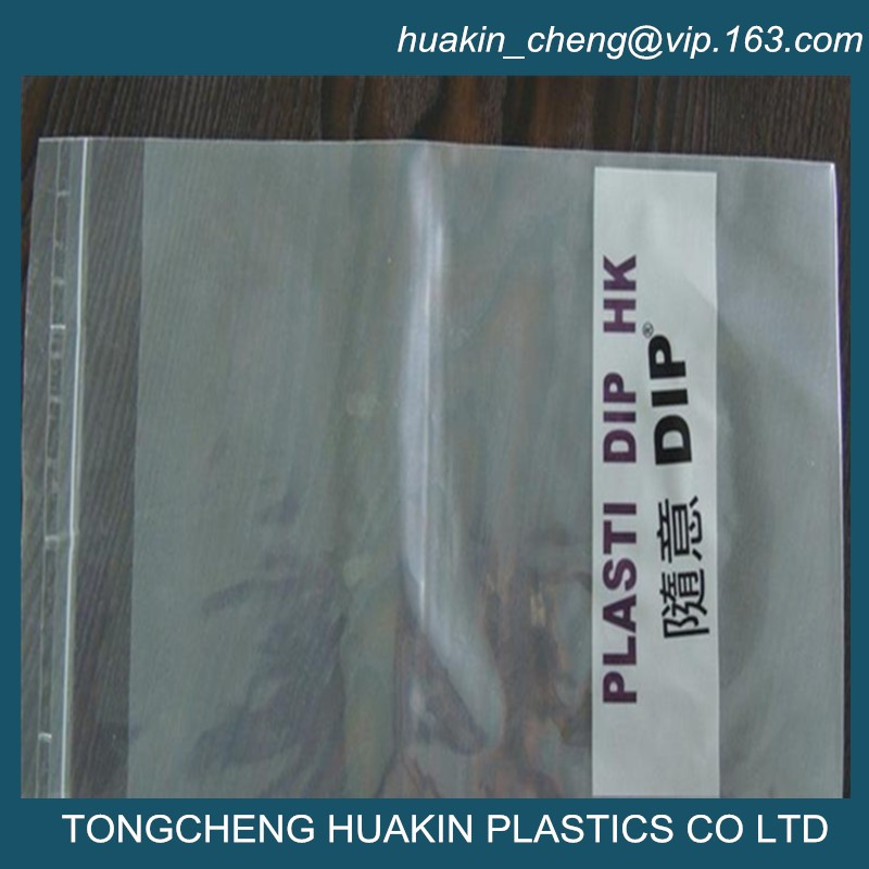 cellophane plastic clear easy peel and seal flap bags garments packing bags with air hole