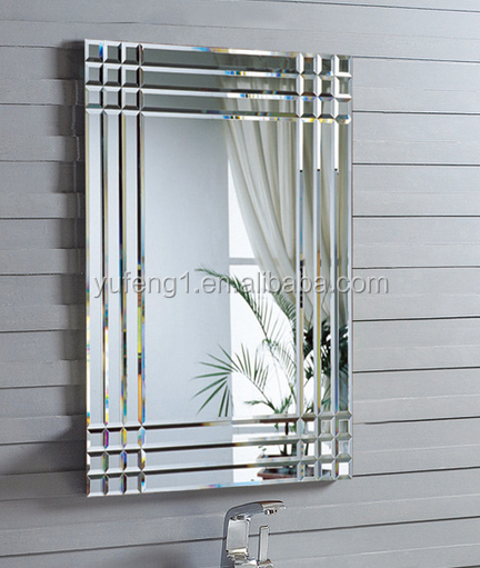 Rectangle bevelled edge wall mirror 60x90cm