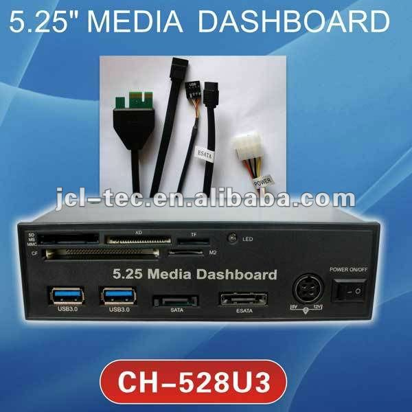 5.25 Media Board Pci-e To Usb 3.0 Hub And Usb2.0 All-in-one Card ...