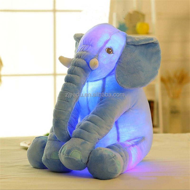 Creative And Luminous Light Glowing Musical Elephant Plush Toys