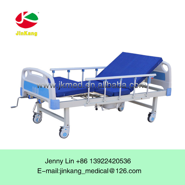 JKAB0035 Approved Cheap ABS hospital bed with toilet medical device bed