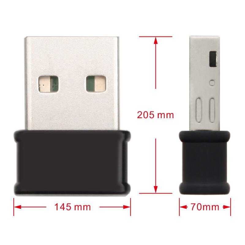 Mini Dualband 1200Mbps AC USB WIFI adapter for laptop desktop