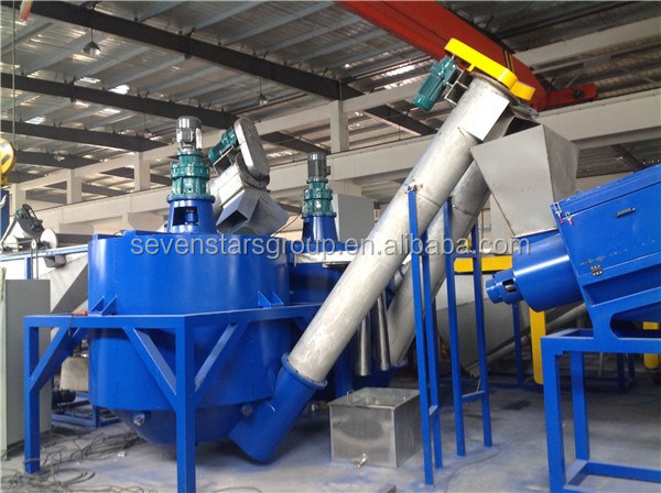 Waste plastic PE PP film recycling machine  pet bottle washing line