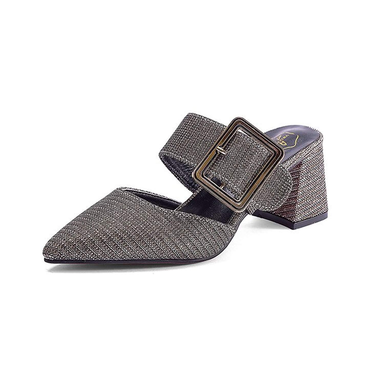 Believed Slip On Loafers, Womens Loafers Slipper Mule Shoes Heels Pumps Heeled Dress Pumps