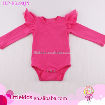Baby Clothes Romper Infant Baby Girls Cotton Crochet Ruffled Flutter