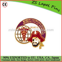 Gold Plate Hard Enamel Cloisonne Lapel Pin