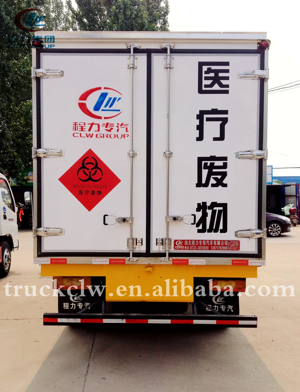 Medical necessities:medical waste transfer truck optional refrigerated unit sealed box safety guarantee transporter vehicles