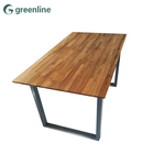 High efficient designs school cross leg hand carved dining table