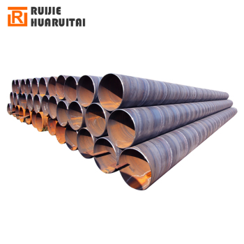 Large diameter welded thin wall steel tube in stock, ms round spiral pipe farm irrigation pipe