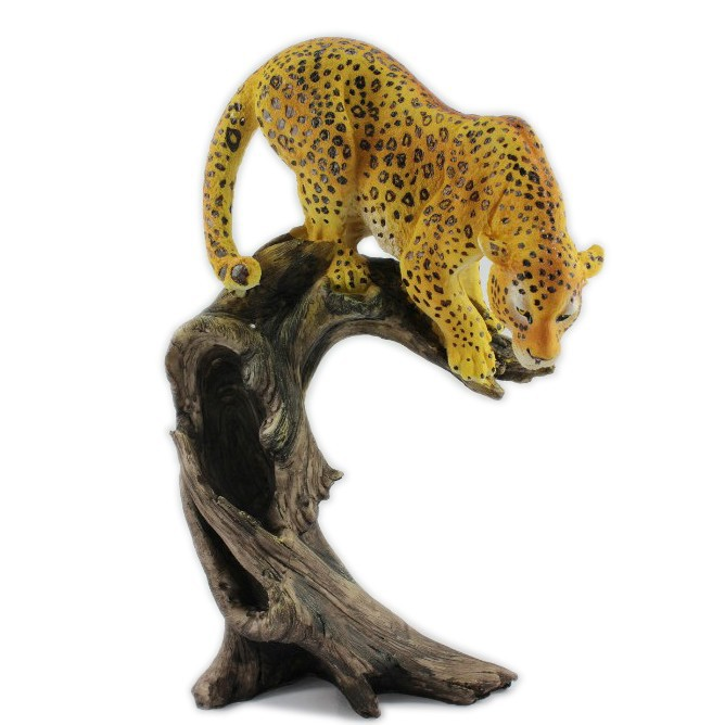 Della resina del leopardo animale decorativo statue