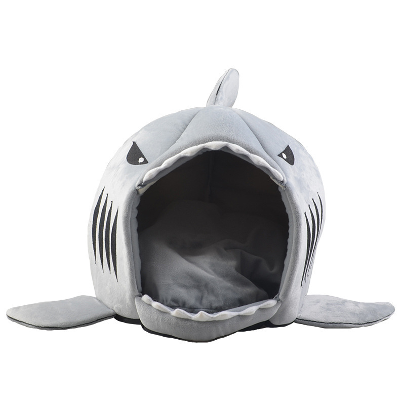 RoblionPet New Fashion Shark Shaped Pet Beds Warm Wholesale Dog Beds Memory Foam Dog Beds