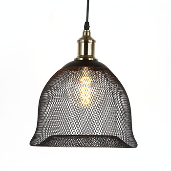 Vintage Pendant Light Cage Lamp Shade Led Lighting Fixtures