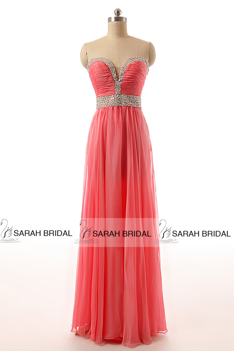Peacock Prom Dresses Coral