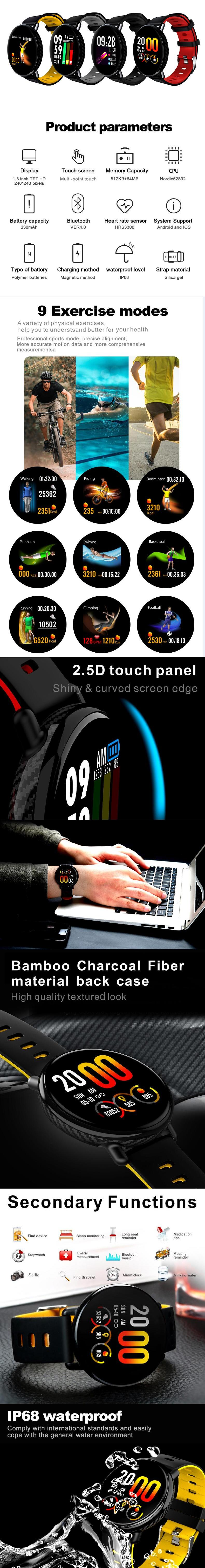Newest wholesale mens smartwatch smart watch made in japan android cheap factory price china