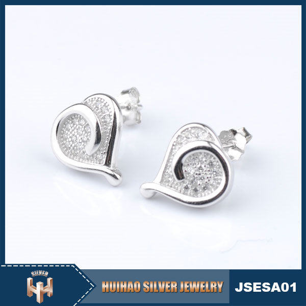 Alibaba wholesale Fashion real 925 earrings stud for gift