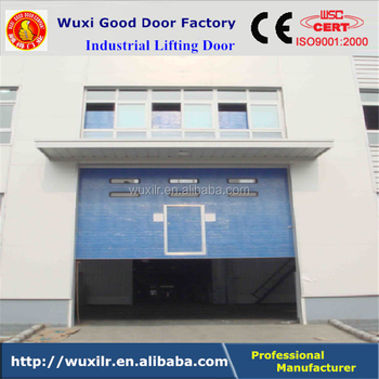 Manually Controlled Sectional Industrial Steel Entry Doors With