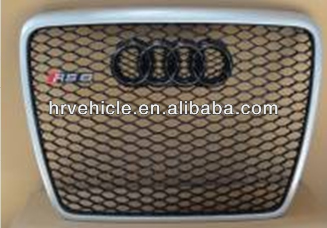 Black front grille for 2013 Audi A6 RS6 car front grille