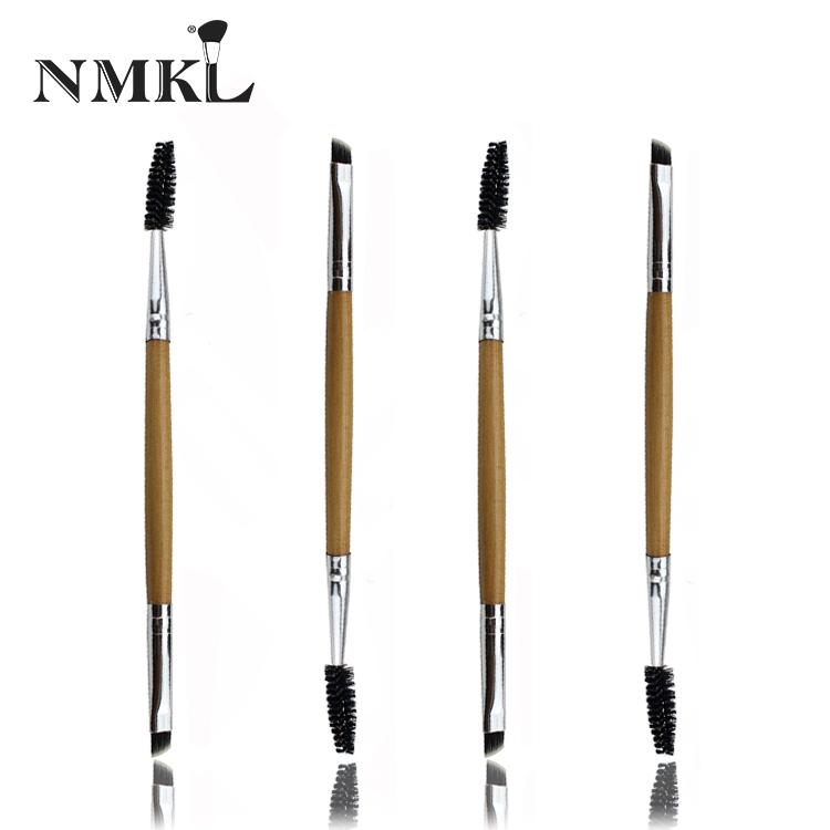 Kaş fırçaları Vegan organik fırça özel etiket bambu beyaz göz kirpik maskara gölge kamuflaj bayan dudak parıltı