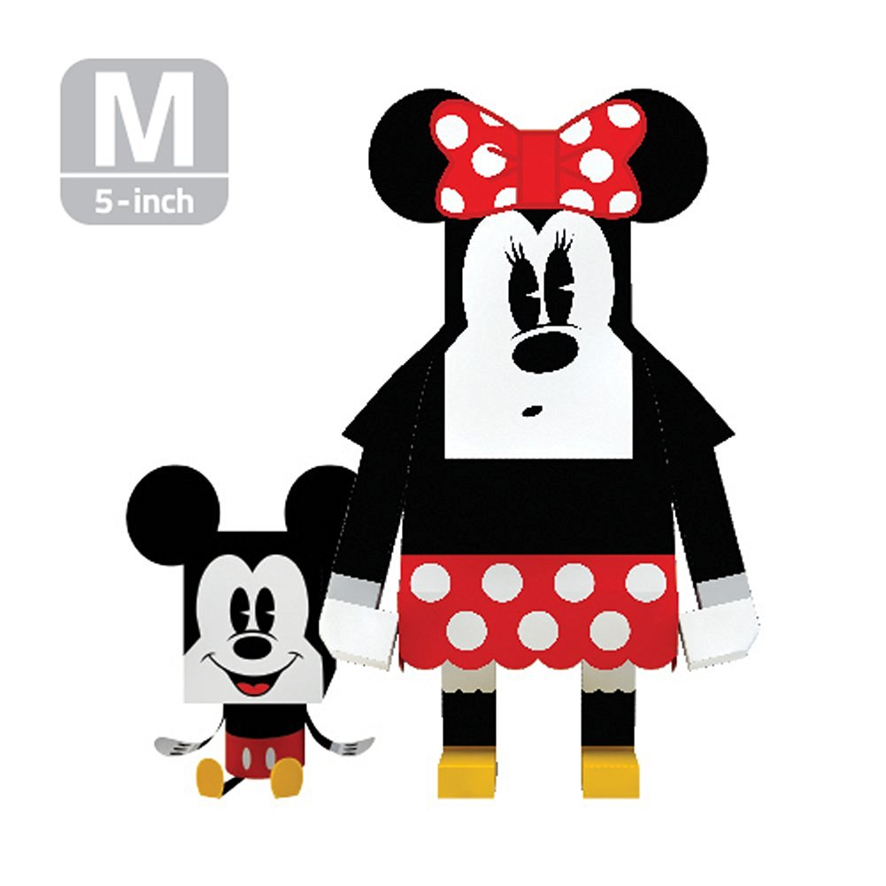 MOMOT Paper Craft Toy - Disney Characters MINNIE MOUSE 5-inch (M Size 13cm)