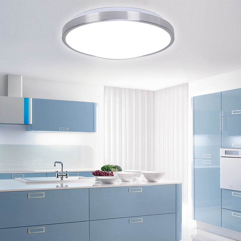 Ceiling Light Fixtures Kitchen: 2015-Modern-Aluminum-Acryl-Silver-Border-Led-Ceiling