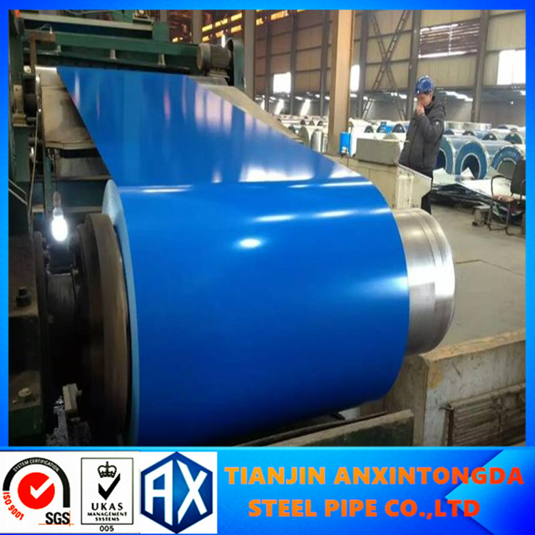 g550 painted zinc coated pre coat steel sheet coil