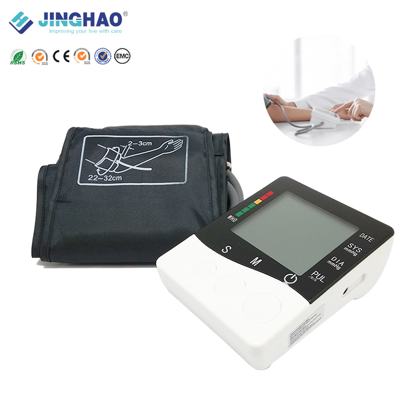 2016 Hot sale AA battery portable bp monitor sphygmomanometer with blood pressure cuff