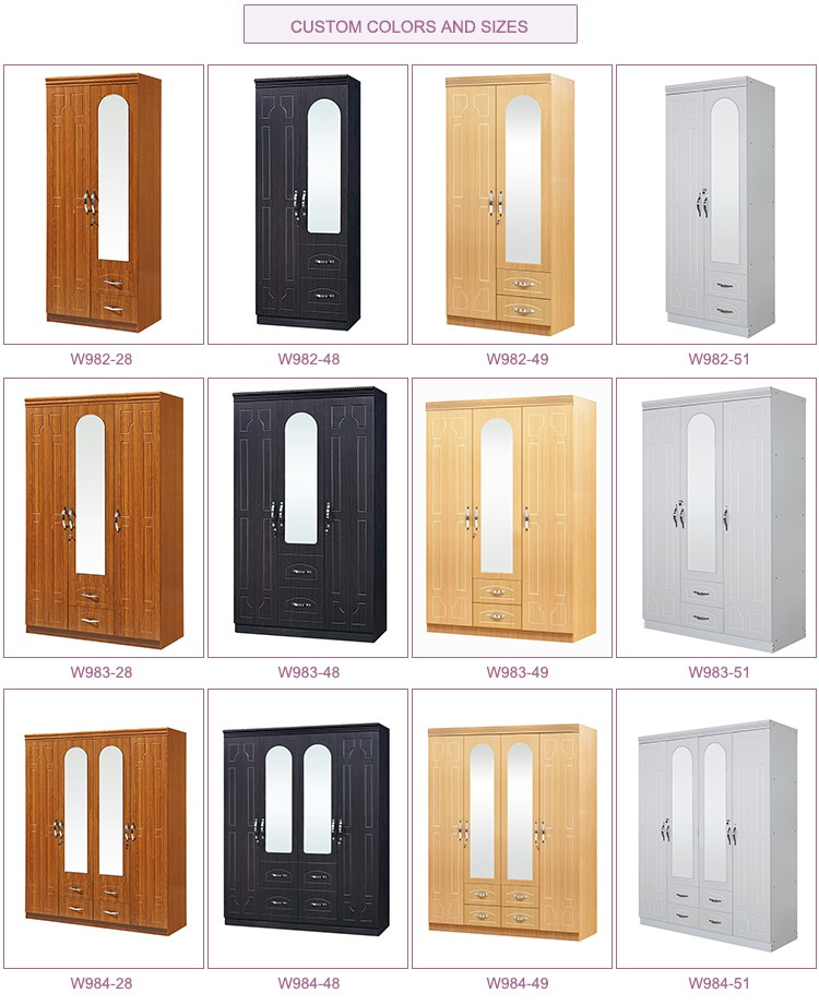 cheap bedroom furniture wardrobe designs mdf wooden 2 door wardrobes