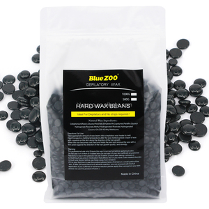 Blue ZOO Black Painless Hard Bean Wax Depilatory Wax for Waxing hair removal depilatory 1000g-Black