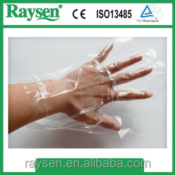 Beauty salon and hair salon use Disposable PE Plastic gloves