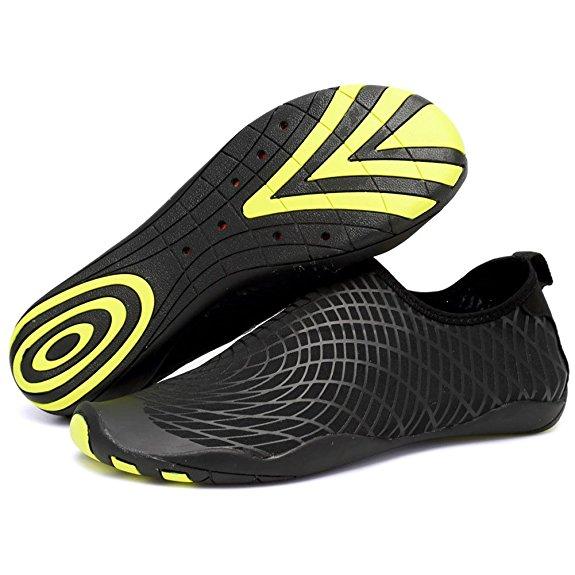 De los hombres Barefoot suaves zapatos antideslizantes zapatos de la playa de buceo Calcetines Yoga Zapatos, 10.8 ''