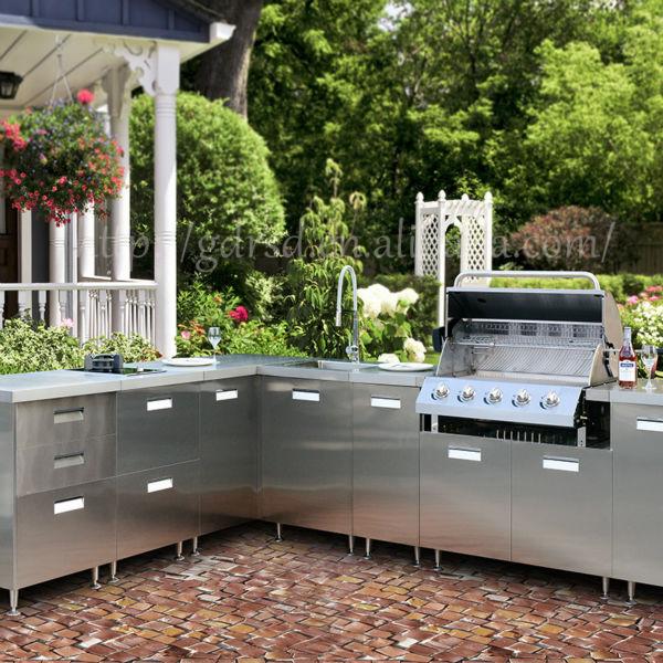Moderne Rvs Outdoor Keukenkast, Outdoor Keuken Bbq