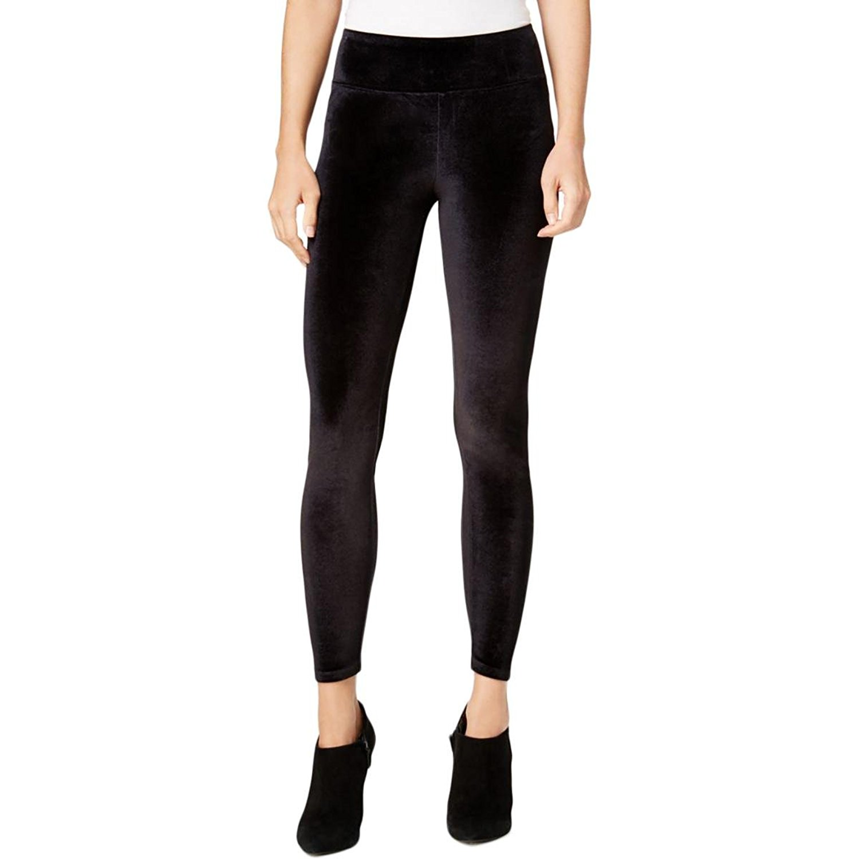 Kensie, Women's, Velvet Stretch Leggings, Black, Sz. Small