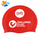 College swim caps custom printed red silicone swimming cap