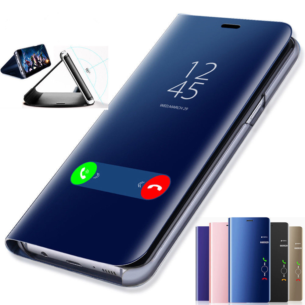 OTAO Clear View Smart Mirror Mobile Case Covers For Samsung J3 J5 J7 A8 2017 2018 Flip Case For Galaxy Note 8 9 Back Cover