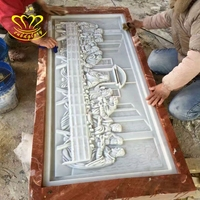 Hot Sale Stone Carved New Product Marble Relief Wall Last Supper Sculpture For Garden Home Decor