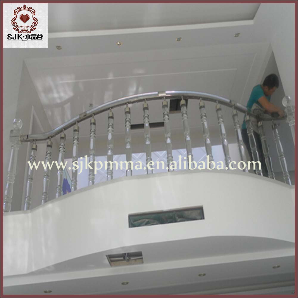 Moderne acryl trap balustrade balkon reling ontwerp glas trappen trappen product id 60388344068 - Railing trap ontwerp ...