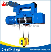 high quality wire rope electric hoist used for overhead crane