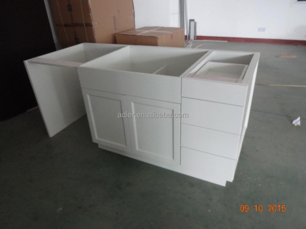 En bois massif shaker porte blanc couleur armoires de for Porte de cuisine en bois massif