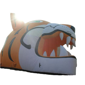 Wow! The coolest tiger animal style inflatable tent tunnel yema helmet,inflatable football tunnel