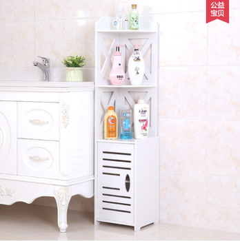 plastic three layer bathroom shelf rack standing bathroom storage corner rack