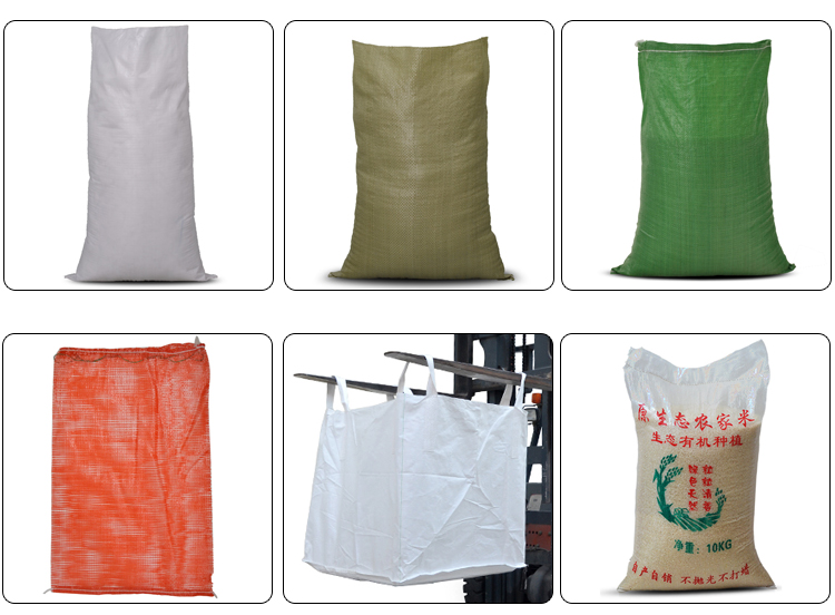 High Quality Eco pp woven Transparent wheat flour rice sack bag 50 kg  25kg price for wholesale