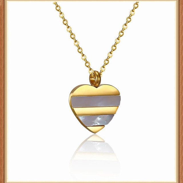 China heart shell pendant wholesale alibaba new design gold pendants inlay white shell gold plated heart pendant aloadofball