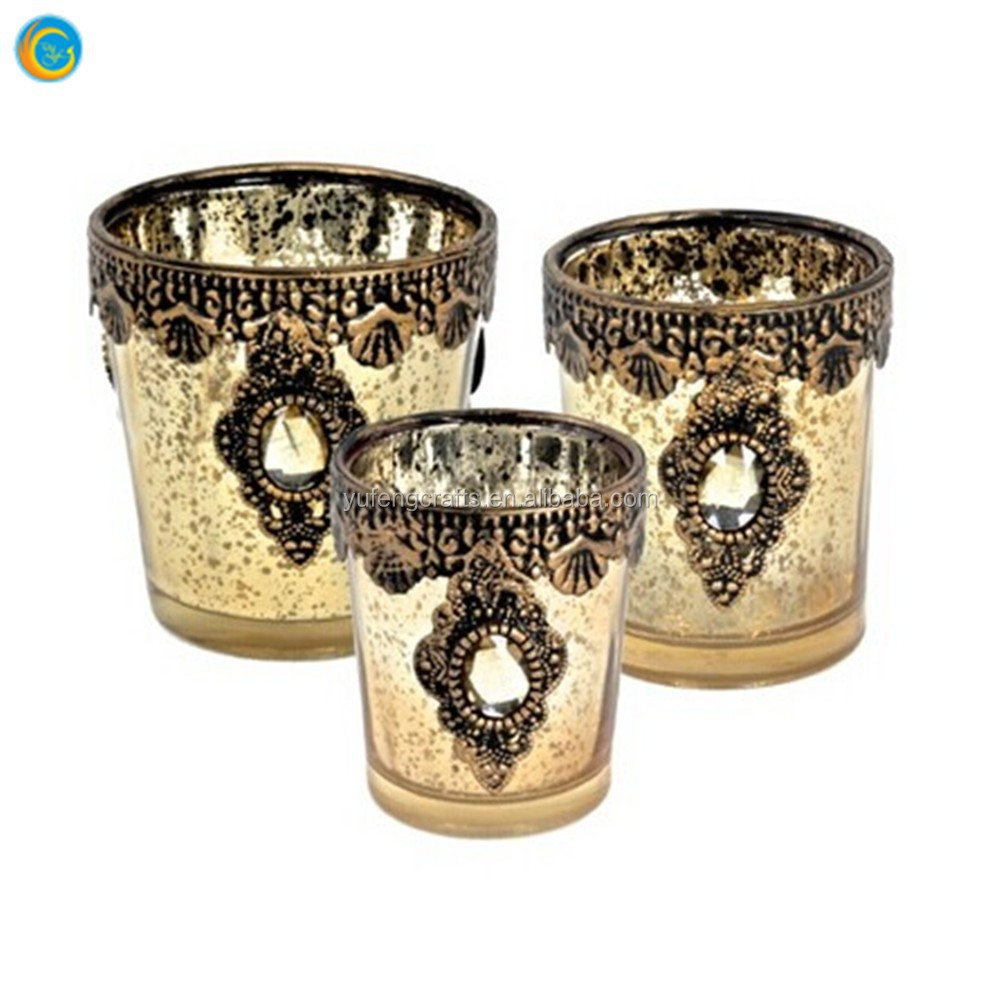 mercury glass cup for decoration