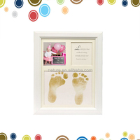 Baby Shower Decoration Baby Handprint And Footprint Wooden Frame ...