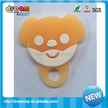 Safety eco-friendly SGS silicone baby teether teething ring wholesale