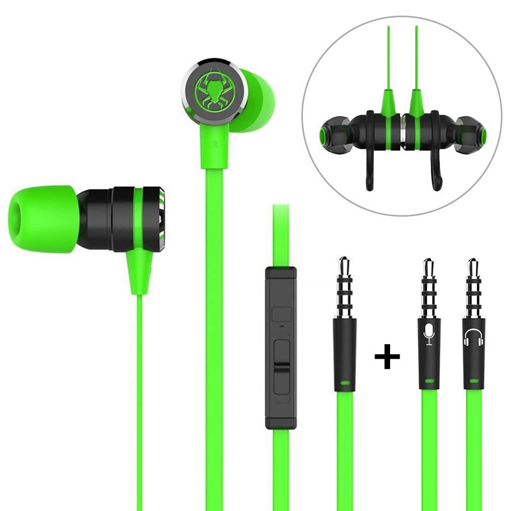 f454464d5ca Get Quotations · In-ear Earphones, G20 3.5mm Wired Earbuds Bass Stereo  Earphones Gaming Earphones with