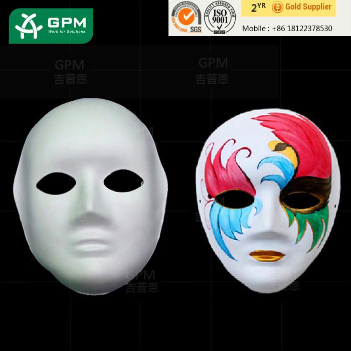 Sıcak Satış özel Yüz Kağıt Maske Satılık Boyama Için Kağıt Zanaat